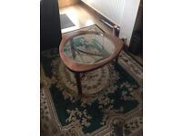 Retro wood /glass coffee table