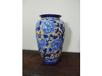 A Blue and Yellow China Vase