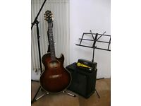 Epiphone Gibson Electric Acoustic Guitar with Amp & Accessories