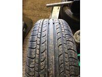 Used 195/55/15 tyre on 4 stud Vauxhall rim 07594145438
