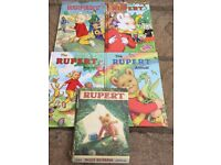Selection of Rupert bear books in good used condition