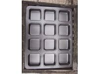 12 Hole Non Stick Square Muffin Tray IP1