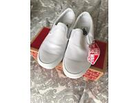 Brand New White Vans - Size 6