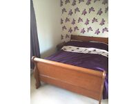 Sleigh double bed