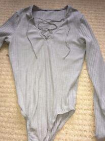 grey bodysuit size 8 / 10