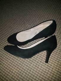 black suede heels shoes wide fit