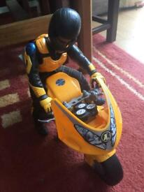 Action man figure and motorbike