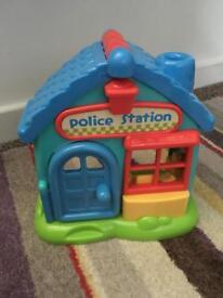 ELC doctors police station (makes noise) happyland.