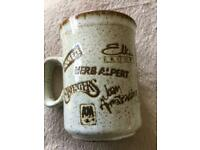 A&M Records rare 1980's promo stoneware mug.