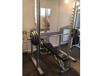 Commercial smith machine with 120kg weight