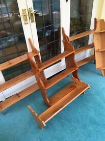 Pine Shelves - collection of 5 - secondhand