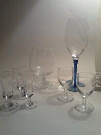 Glasses x 7 – assortment