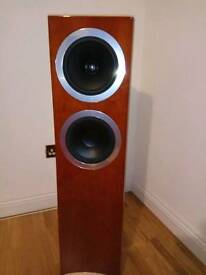 Tannoy dc 8t & Tannoy dc 8 surround sound speakers - cherry - priced dropped!!!