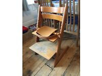 Stokke Tripp Trapp chair with baby set