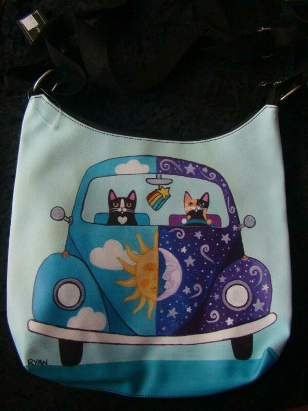 CATS IN A VW BUG HANDBAG FROM OUR PAWS AND PALS CAT BOUTIQUE NEW WITH TAGS