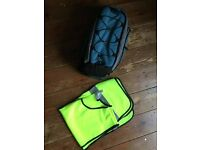 Bike bag and safety night vest - perfect state, never used