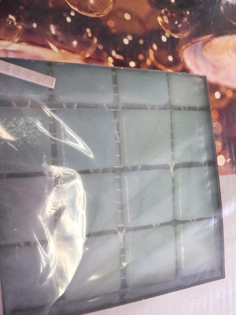 B q jade green glass mosaic tiles perfect for border 1 pack in b q jade green glass mosaic tiles perfect for border 1 pack shiifo