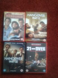 The Hangover DVD Collection plus additional dvd for sale.