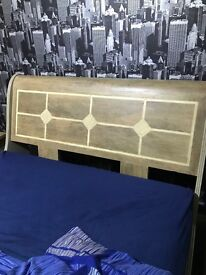 Kingsize bed Frame, two drawers and desk