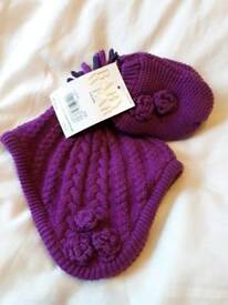 BNWT Hat and mittens 3 - 6 months