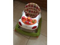 Free baby items (walker, bath rest, microwave steriliser, car seat)
