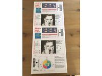 2 Taylor Swift reputation tour tickets Wembley sat 23rd june