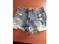 Ladies denim ripped shorts