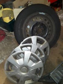 15 inh vauxhall vectra wheel tyre and hub caps