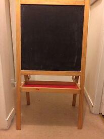 Ikea chalk board and whiteboard easel