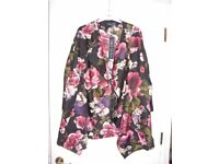 Brand new with tags Girls on Film Lightweight Floral Jacket - Size 14 (but fits bigger)