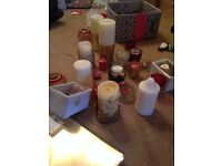 Bakeware, table linen, and candles