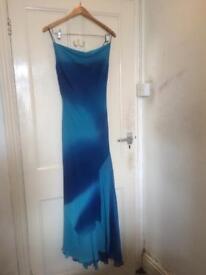 Ladies size 14 blue formal dress