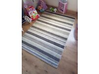Wool striped rug