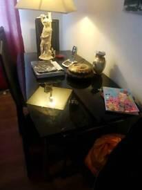 High Shine Black Extending Table