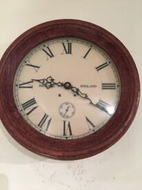 Lovely wooden clock - ideal for a kitchen or living room