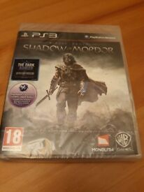 PS3 SHADOW OF MORDOR . Dark Ranger DLC Included. Brand new factory sealed. Selling on evay at £25.