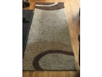 Brown swirl rug runner large ideal for any room only 228cm x 76cm £10
