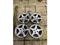 4x Peugeot Cyclone Alloy Wheels (306, 206, 106 etc)