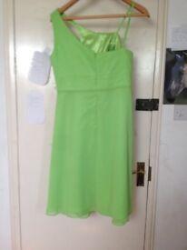 stunning green new chiffon beaded dress 20.00 size 16 european size 50