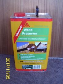 5 litre Sikagard Solvent Free Wood Preserver - Fir Green (Unopened)