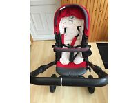 Jane Trider Cosmos pram and Strata car seat, excellent condition