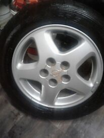 3xalloys,16x55x215 nearly new tyres
