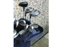 MENS LEFT HAND GOLF CLUBS WITH FREE TROLLEY