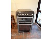 Hotpoint HUD61G Dual Fuel Cooker - graphite. 1 year old. 60 cm