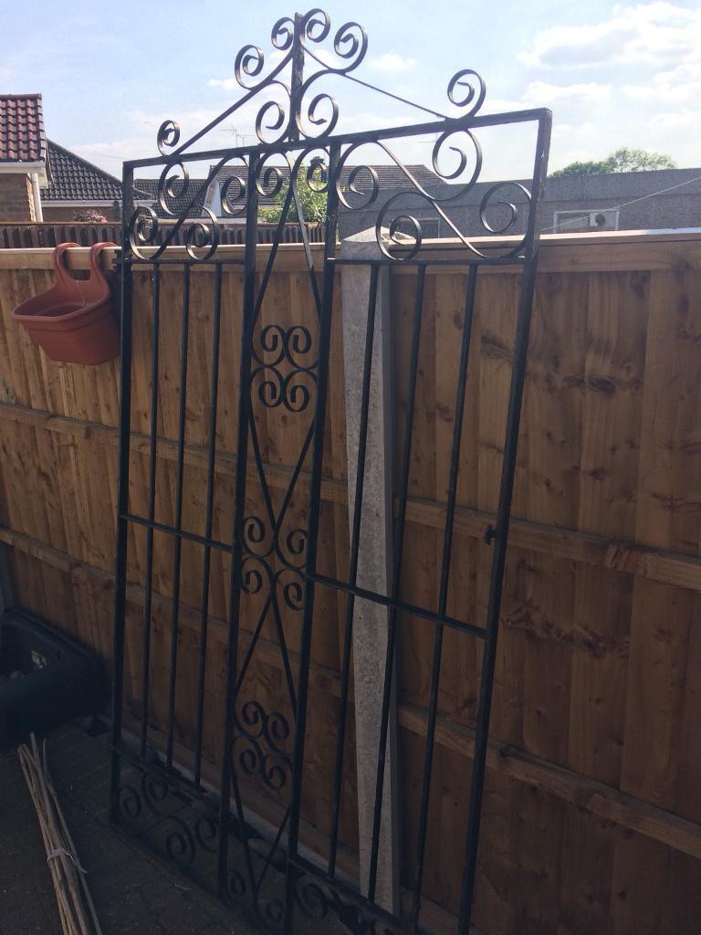 Wrought iron square garden gate