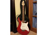 "Peevey ""Raptor"" red electric guitar"