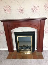 Wood effect Fire Surround