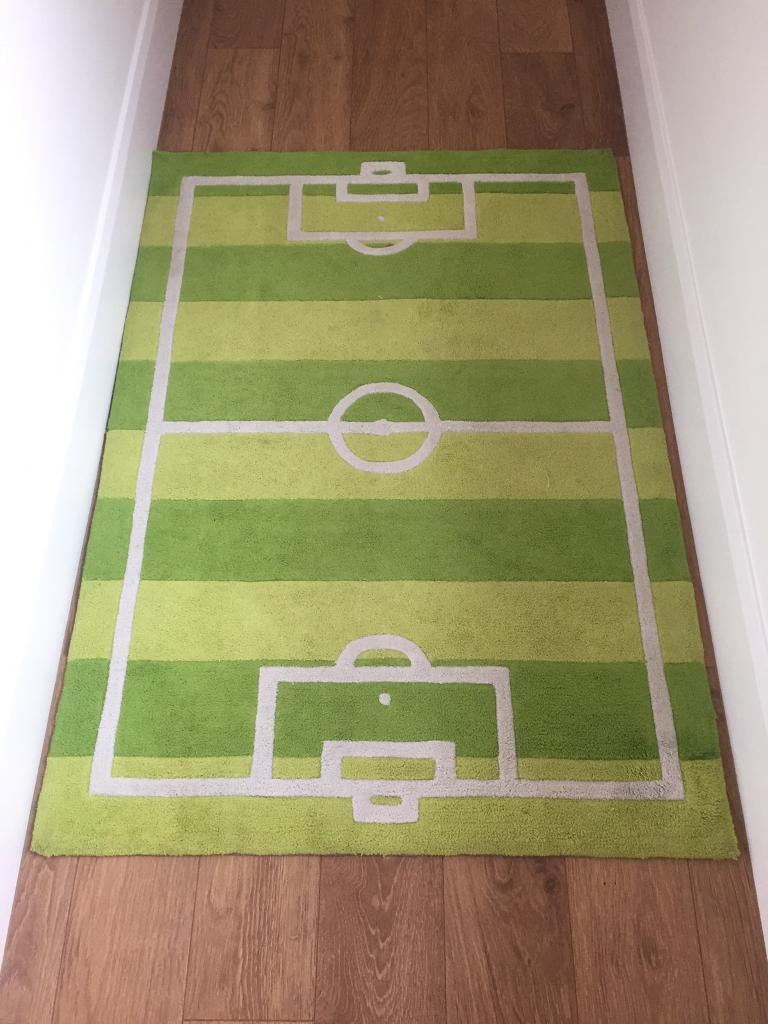 Child S Football Pitch Rug 110cm X 160cm