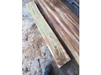 Elm planked timber logs