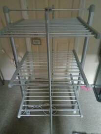 heated Rail dryer perfect for house or small flat as it folds away comes with cover